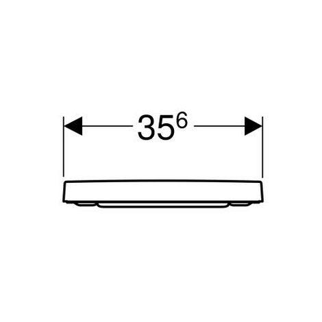 Geberit Renova Plan WC-Sitz, eckiges Design Quick Release, für WC teilgeschl. Form, 500692011