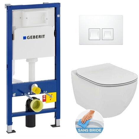 Geberit Set WC Geberit DUOFIX UP100 + Bowl Ideal Standard Tesi Aquablade + Flush plate DELTA50 (SETUP100-AQUA5)