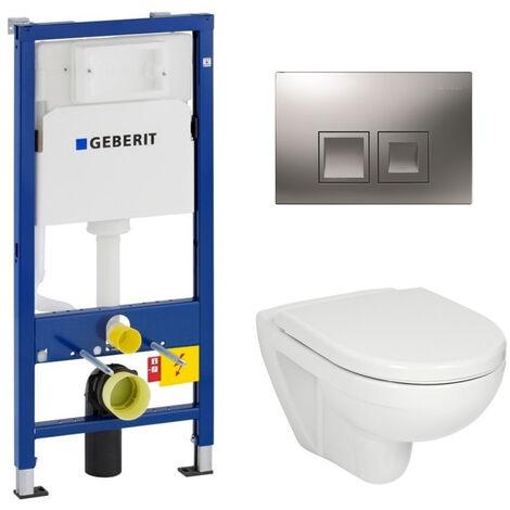 Geberit Set WC Geberit duofix UP100 + Toilette bowl Jika (group Roca-Laufen) + Flush plate DELTA50 (SETUP100-JIKA7)