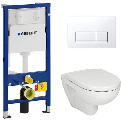 Geberit Set WC Geberit duofix UP100 + Toilette bowl Jika (group Roca-Laufen) + Flush Plate DELTA51 (SETUP100-JIKA8)