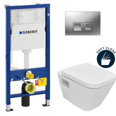 Geberit Set WC Geberit duofix UP100 + Toilette Bowl SEREL + Flush Plate DELTA50 (SETUP100-DG1)