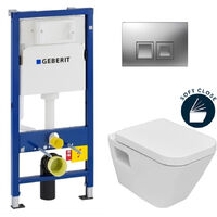 Geberit Set WC Geberit duofix UP100 + Toilette Bowl SEREL + Flush Plate (SETUP100-DG1)