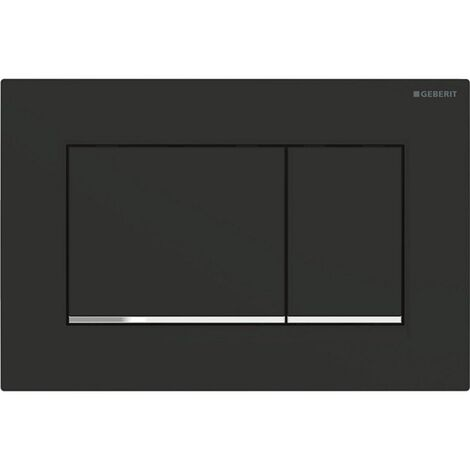 Geberit Sigma 30 Dual Push Button Flush Plate WC Concealed Cistern Black/Chrome