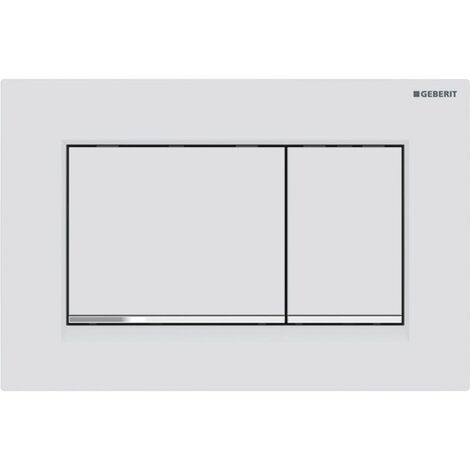 Geberit Sigma 30 Dual Push Button Flush Plate WC Concealed Cistern White/Chrome