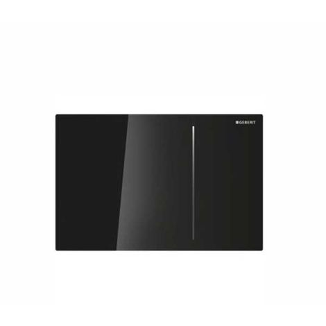Geberit Sigma 70 Dual Flush Plate for 120mm Concealed Cistern Black Glass 115.621.SJ.1