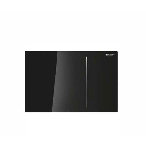 Geberit Sigma 70 Dual Flush Plate for 120mm Concealed Cistern - Black Glass