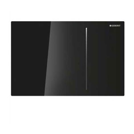 Geberit Sigma 70 Dual Flush Plate for 80mm Concealed Cistern - Black Glass