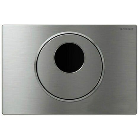 Geberit Sigma10 Battery Operated Dual Flush Plate for Cistern, Steel Brushed