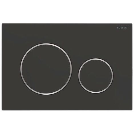 Geberit Sigma20 Dual Flush Plate - Matt Black