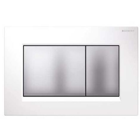 Geberit Sigma30 Dual Flush Plate - White/Matt Chrome