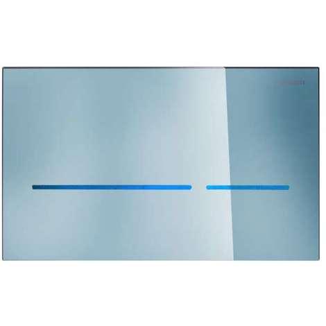 Geberit Sigma80 berührungslos (IR/Netz), für 2-Mengen-Spülung Glas verspiegelt