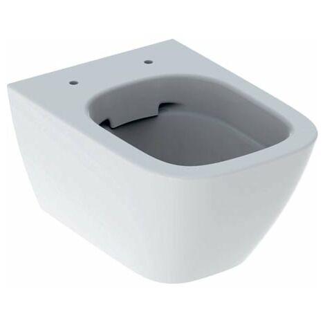 Geberit Smyle Rondelle de WC murale carrée, projection raccourcie, forme fermée, sans rebord 500379, Coloris: Blanc, avec KeraTect - 500.379.01.8