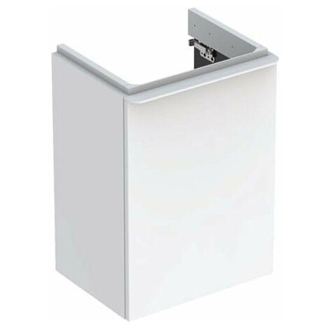 Geberit Smyle Square Handwaschbecken Unterschrank, 500350, 442x617x356mm, mit 1 Tür, rechtsöffnend, Farbe: Weiß Hochglanz Lack - 500.350.00.1