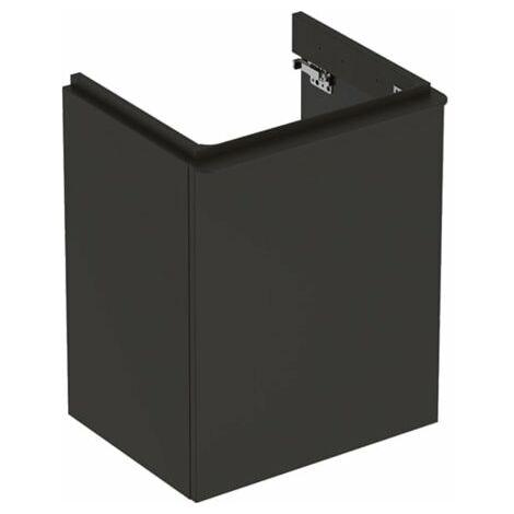 Geberit Smyle Square Handwaschbecken Unterschrank, 500364, 492x617x406mm, mit 1 Tür, linksöffnend, Farbe: Lava / lackiert matt - 500.364.JK.1