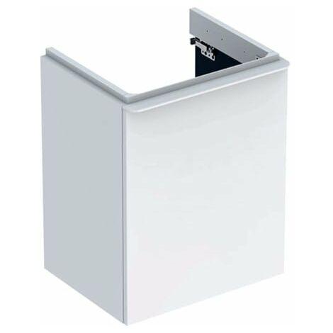 Geberit Smyle Square Handwaschbecken Unterschrank, 500364, 492x617x406mm, mit 1 Tür, linksöffnend, Farbe: Weiß Hochglanz Lack - 500.364.00.1