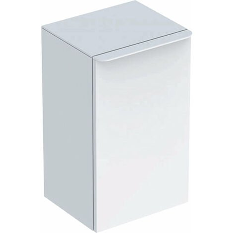 Geberit Smyle Square Seitenschrank, 500360, 36x60x32,6cm, mit 1 Tür linksöffnend, Farbe: Weiß Hochglanz Lack - 500.360.00.1