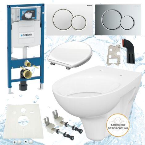 Geberit Spülkasten UP320 Duofix 111300005 Drückerplatte Sigma01 Design WC WC Sitz abnehmbar Einwurfschacht