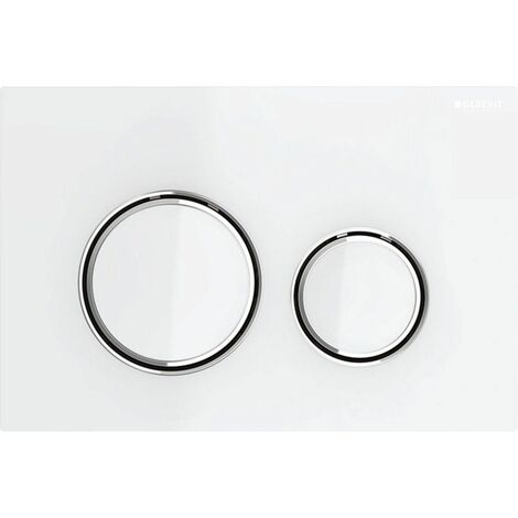 Geberit Stigma 21 Dual Push Button Flush Plate WC Concealed Cistern White/Chrome