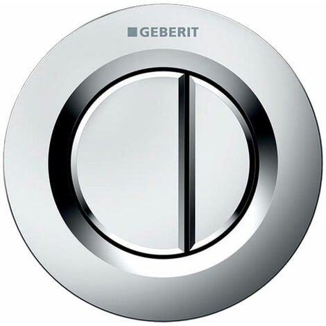 Geberit Type 01 Dual Flush Plate Button for 120mm and 150mm Concealed Cistern - Matt Chrome