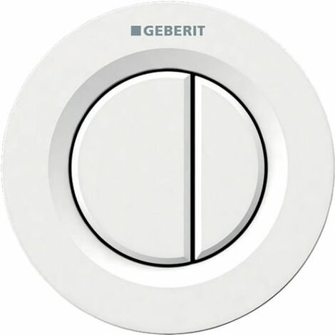 Geberit Type 01 Dual Flush Plate Button for 80mm Concealed Cistern - Alpine White