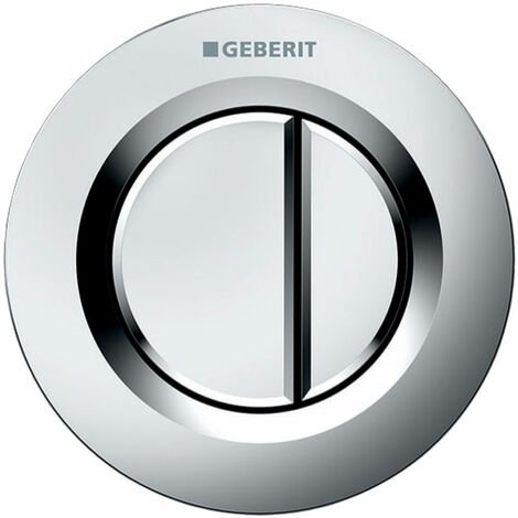 Geberit Type 01 Dual Flush Plate Button for 80mm Concealed Cistern - Matt Chrome