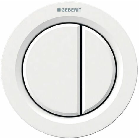 Geberit Type 01 Pneumatic Dual Flush Plate Button for Concealed Cistern - White Alpine