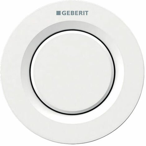 Geberit Type 01 Single Flush Plate Button for 80mm Concealed Cistern - Alpine White