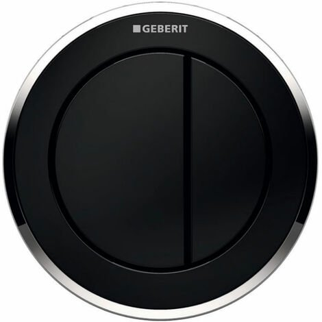 Geberit Type 10 Pneumatic Dual Flush Plate Button for Concealed Cistern - Black / Gloss Chrome