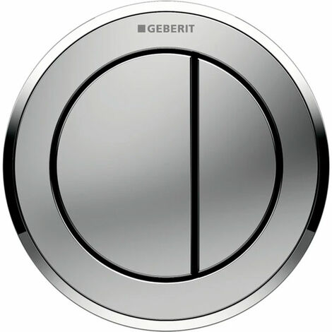 Geberit Type 10 Pneumatic Dual Flush Plate Button for Concealed Cistern - Gloss / Matt Chrome