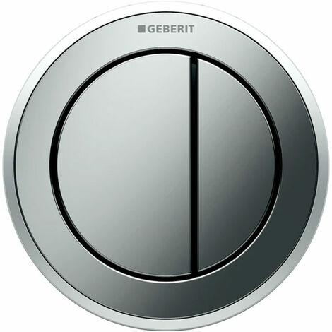 Geberit Type 10 Pneumatic Dual Flush Plate Button for Concealed Cistern - Matt / Gloss Chrome