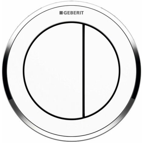 Geberit Type 10 Pneumatic Dual Flush Plate Button for Concealed Cistern - White / Gloss Chrome