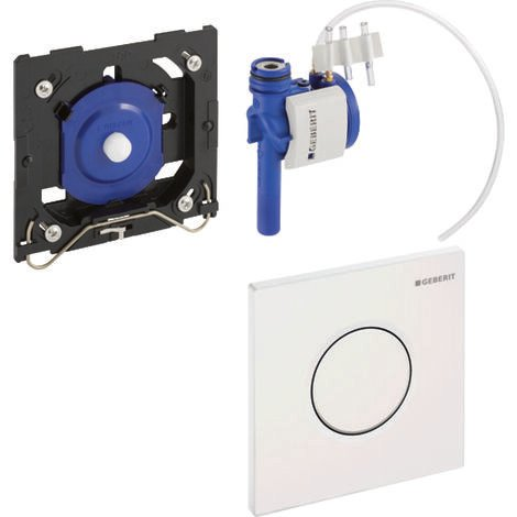 Geberit urinal control with pneumatic flush release, actuating plate type 01, colour: white-alpine - 116.011.11.5
