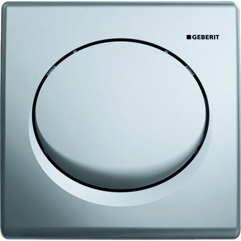 Geberit urinal control with pneumatic flush release, plastic actuator plate, Basic, colour: matt chrome plated - 115.820.46.5