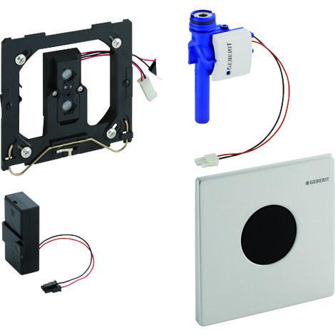 Geberit Urinalsteuerung mit elektronischer Spülauslösung, Batteriebetrieb, Abdeckplatte Mambo - 116.033.FW.1