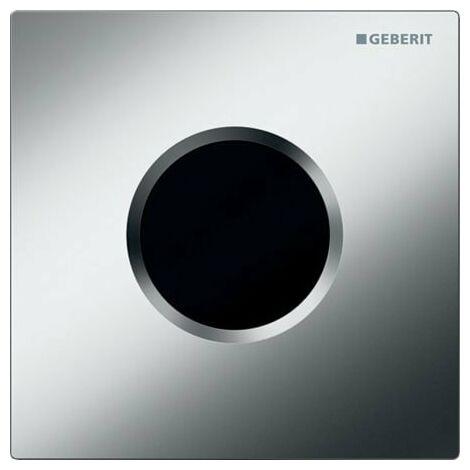 Geberit Urinalsteuerung mit elektronischer Spülauslösung, Batteriebetrieb, Abdeckplatte Typ 01, Coloris: chromé mat - 116.031.46.5
