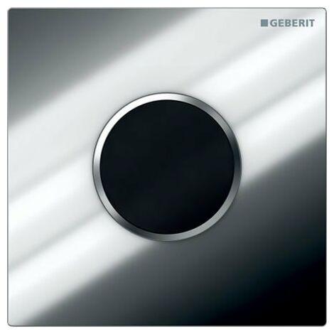 Geberit Urinalsteuerung mit elektronischer Spülauslösung, Batteriebetrieb, Abdeckplatte Typ 10, Coloris: chromé brillant / chromé mat - 116.035.KH.1