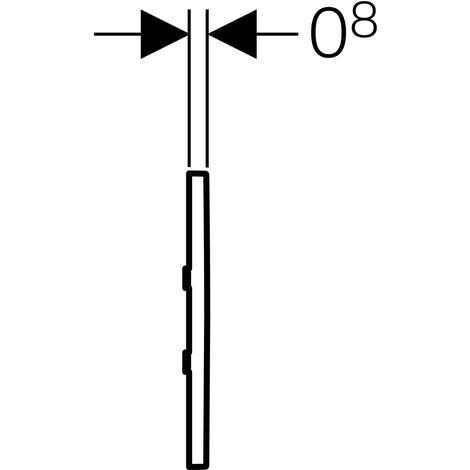 Geberit Urinalsteuerung mit elektronischer Spülauslösung, Batteriebetrieb, Abdeckplatte Typ 30, Coloris: chromé brossé - 116.037.KX.1