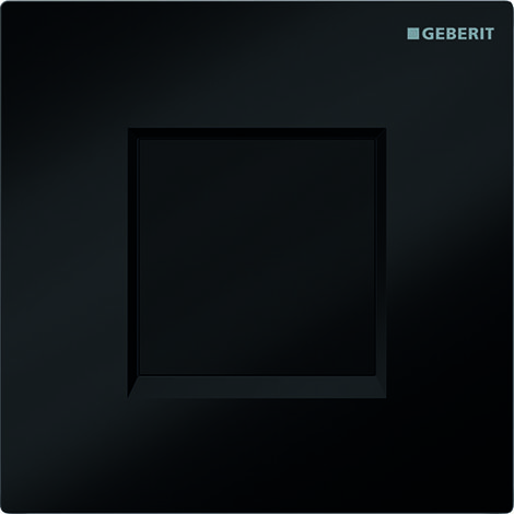 Geberit Urinalsteuerung mit elektronischer Spülauslösung, Batteriebetrieb, Abdeckplatte Typ 30, Coloris: noir foncé RAL 9005 - 116.037.KM.1
