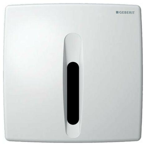 Geberit Urinalsteuerung mit elektronischer Spülauslösung, Netzbetrieb, Abdeckplatte Kunststoff, Basic, Coloris: blanc-alpin - 115.817.11.5