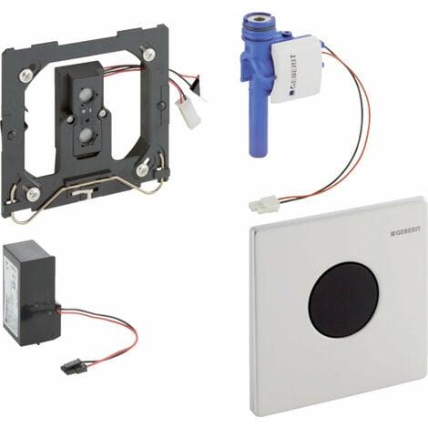 Geberit Urinalsteuerung mit elektronischer Spülauslösung, Netzbetrieb, Abdeckplatte Mambo - 116.023.FW.1