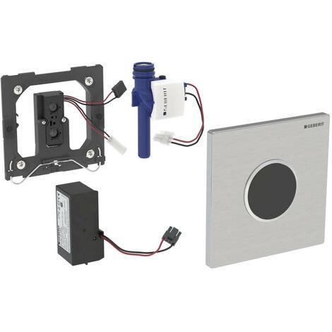 Geberit Urinalsteuerung mit elektronischer Spülauslösung, Netzbetrieb, Abdeckplatte Typ 10 - 116.025.KH.1