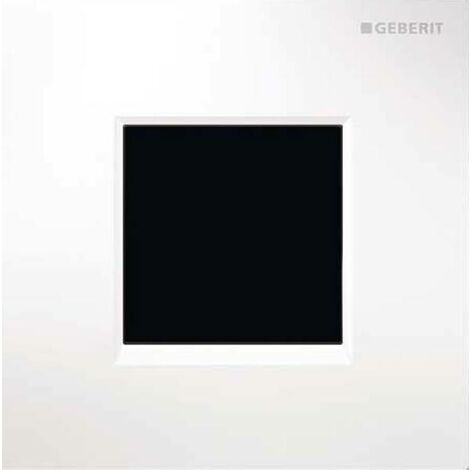 Geberit Urinalsteuerung mit elektronischer Spülauslösung, Netzbetrieb, Abdeckplatte Typ 30, Coloris: blanc-alpin - 116.027.KJ.1