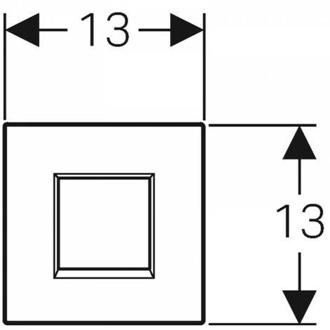 Geberit Urinalsteuerung mit elektronischer Spülauslösung, Netzbetrieb, Abdeckplatte Typ 30, Coloris: Chromé brillant - 116.027.KH.1
