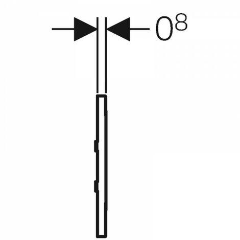 Geberit Urinalsteuerung mit elektronischer Spülauslösung, Netzbetrieb, Abdeckplatte Typ 30, Coloris: chromé brossé - 116.027.KX.1