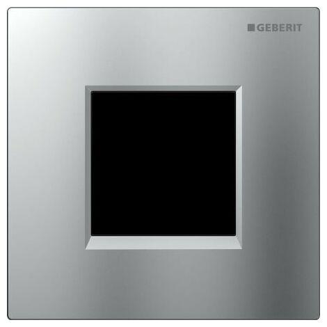 Geberit Urinalsteuerung mit elektronischer Spülauslösung, Netzbetrieb, Abdeckplatte Typ 30, Coloris: chromé mat - 116.027.KN.1