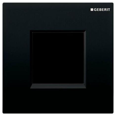 Geberit Urinalsteuerung mit elektronischer Spülauslösung, Netzbetrieb, Abdeckplatte Typ 30, Coloris: noir foncé RAL 9005 - 116.027.KM.1