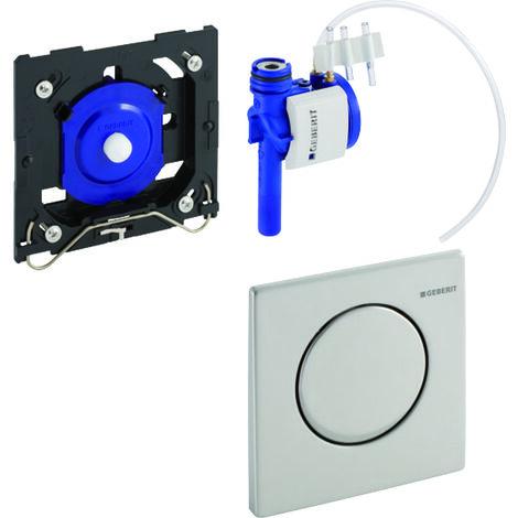 Geberit Urinalsteuerung mit pneumatischer Spülauslösung, Betätigungsplatte Mambo - 116.013.FW.1