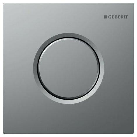 Geberit Urinalsteuerung mit pneumatischer Spülauslösung, Betätigungsplatte Typ 01, Coloris: chromé mat - 116.011.46.5