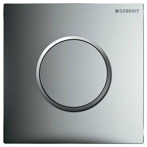 Geberit Urinalsteuerung mit pneumatischer Spülauslösung, Betätigungsplatte Typ 10, Coloris: chromé brillant / chromé mat - 116.015.KH.1