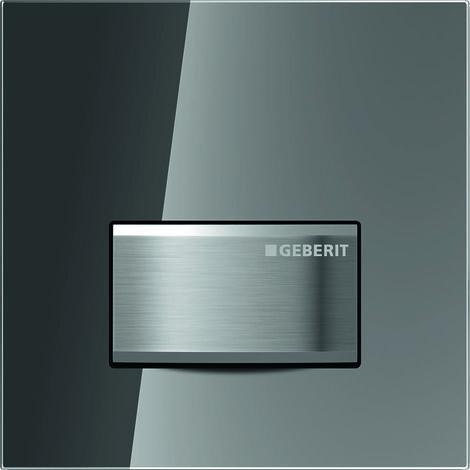 Geberit Urinalsteuerung mit pneumatischer Spülauslösung, Betätigungsplatte Typ 50, Coloris: brossé - 116.016.SD.5